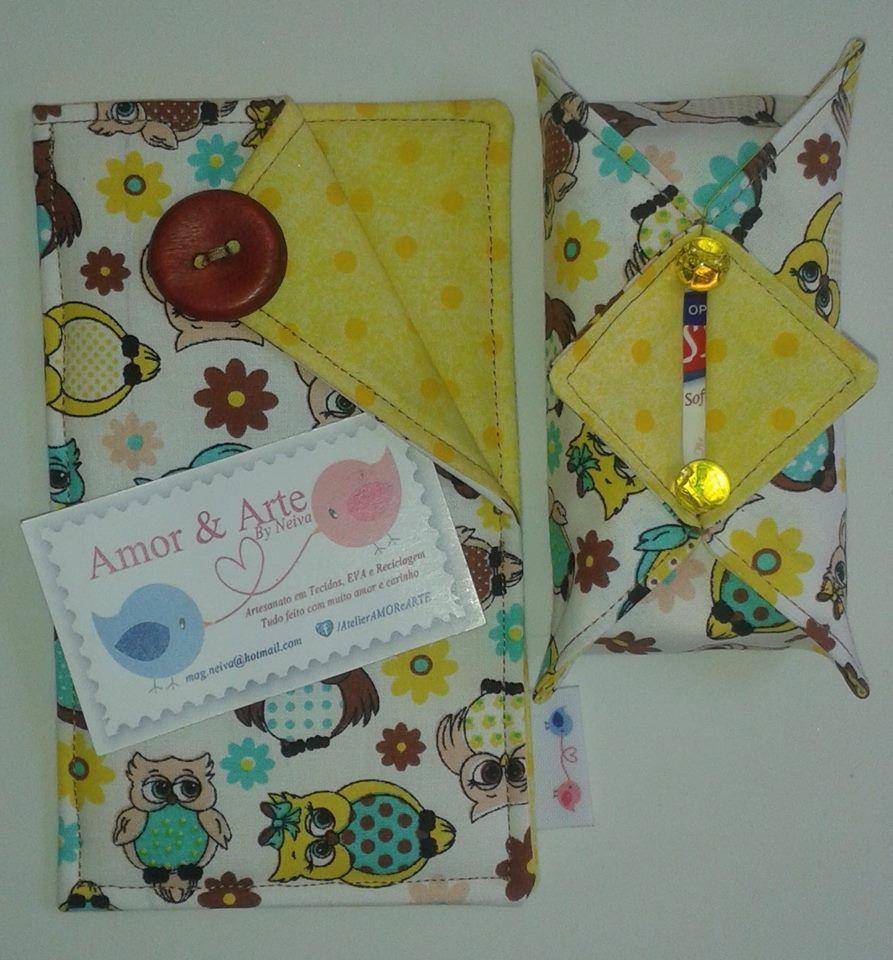 Capa para celular e porta lencinho de papel