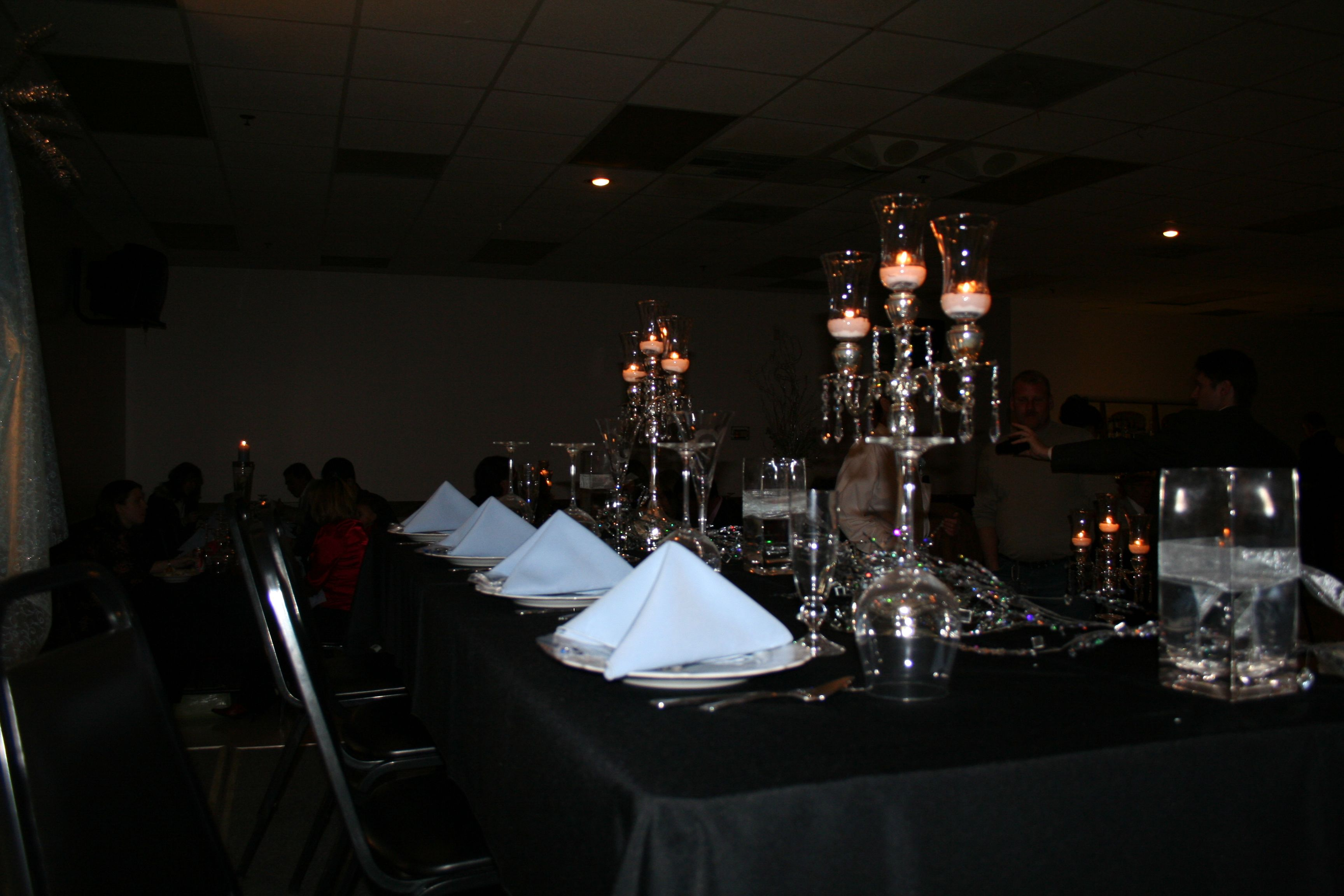 My daughter Andi's wedding--the reception.  Guests tables.