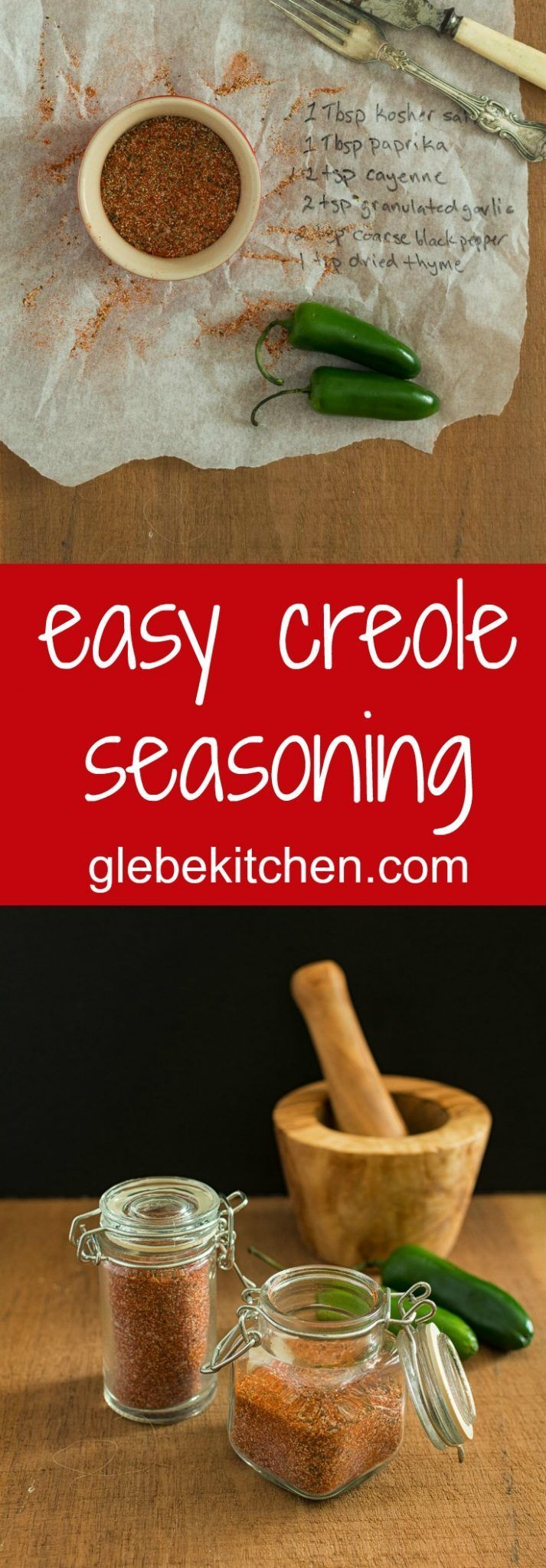 Creole seasoning Recipe Creole seasoning, Food recipes