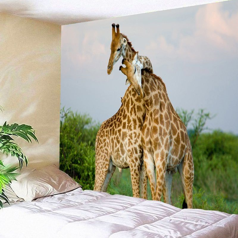 wall hanging giraffe couple pattern tapestry wall on walls coveralls website id=53244