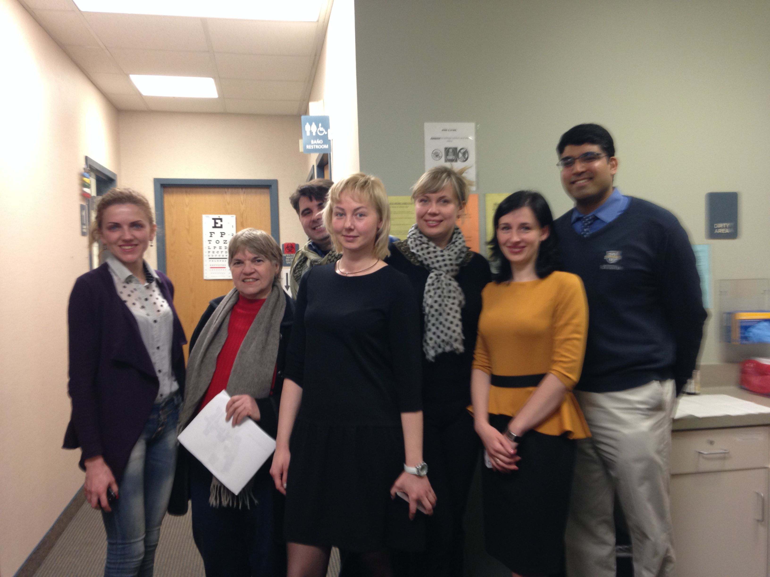 Ukrainian Telemedicine Delegation in Rochester, New York visiting a Primary Care Clinic for Diabetes