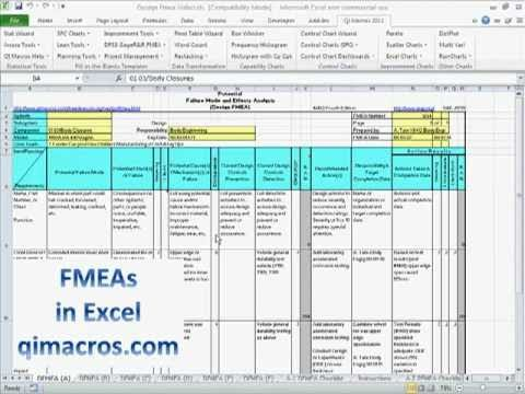 Fmea  Failure Modes And Effects Analysis  In Excel With Qi