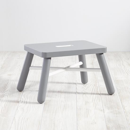 New Height Step Stool (White/Grey) | The Land Of Nod