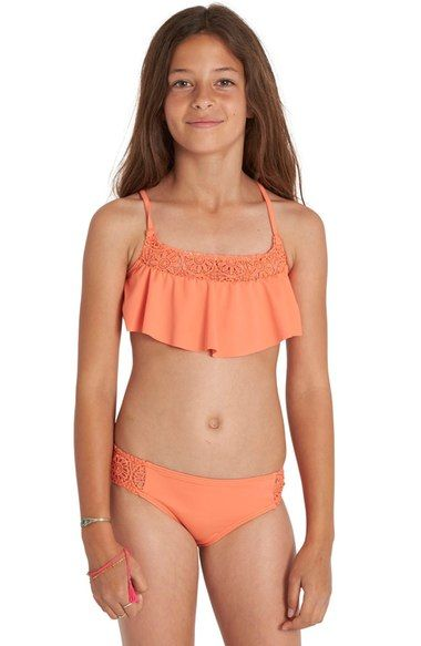 6dfd4a56be0 Billabong Just Beachy Two-Piece Swimsuit (Little Girls & Big Girls)  available at #Nordstrom