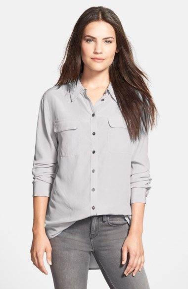 42c2d285090132 Two by Vince Camuto Silk Utility Blouse (Regular   Petite ...