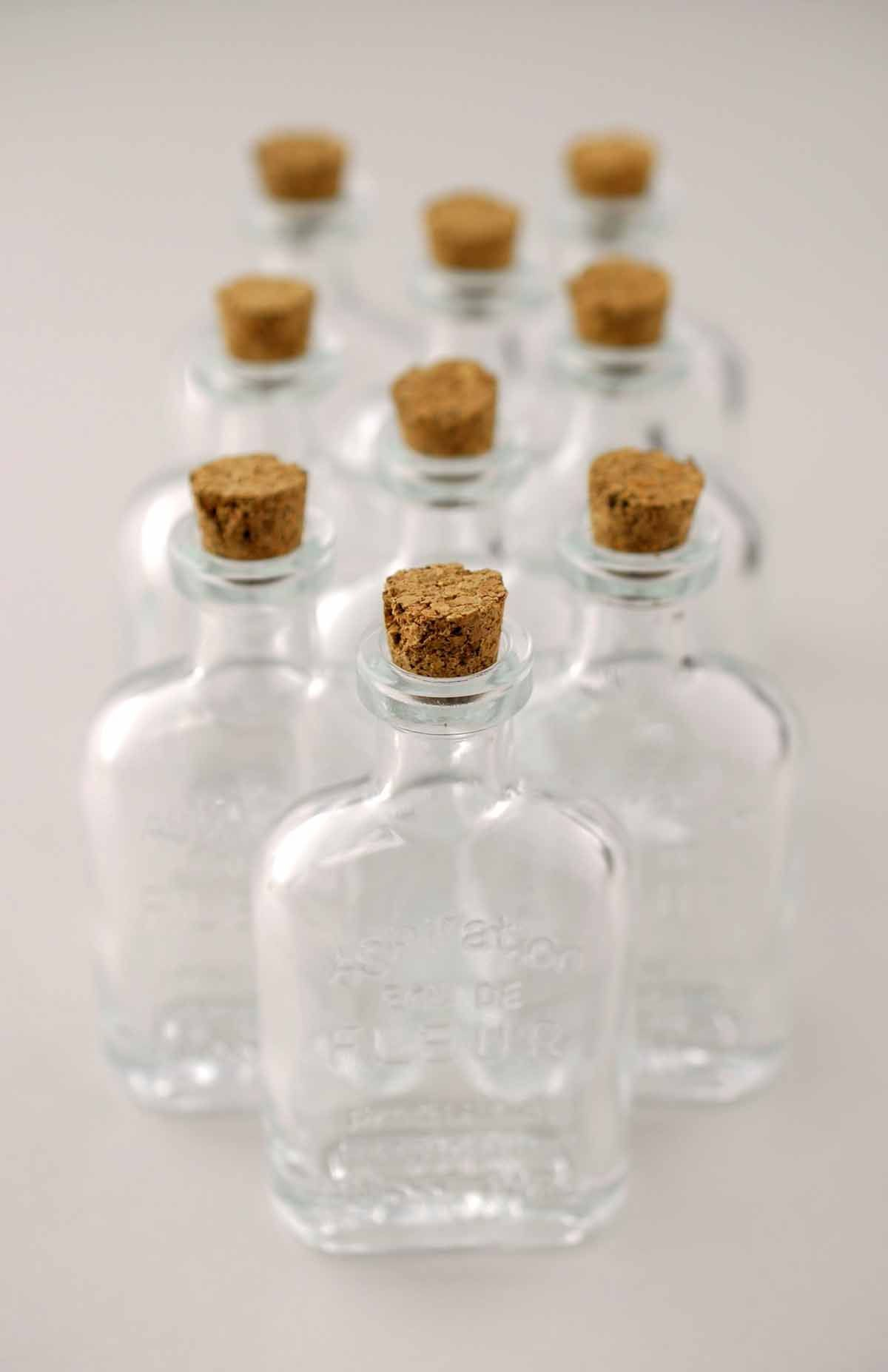 Mini glass bottles | Small glass bottles, Glass bottle and Cork