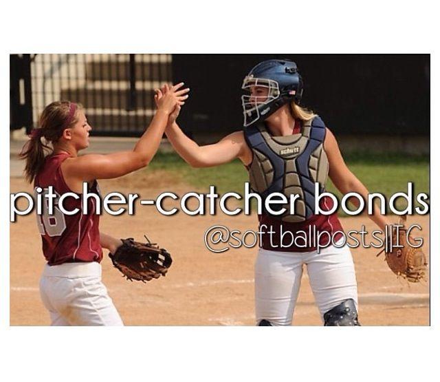 Pitcher catcher bond What a better team that pitcher-catcher sisters    Softball is my best-friend:)   Pinterest   Béisbol