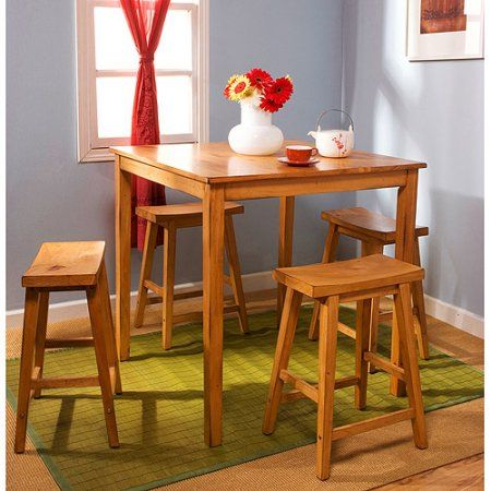 Belfast 5 Piece Bistro Set Oak  Products  Pinterest  Bistro Stunning Dining Room Tables Walmart Inspiration