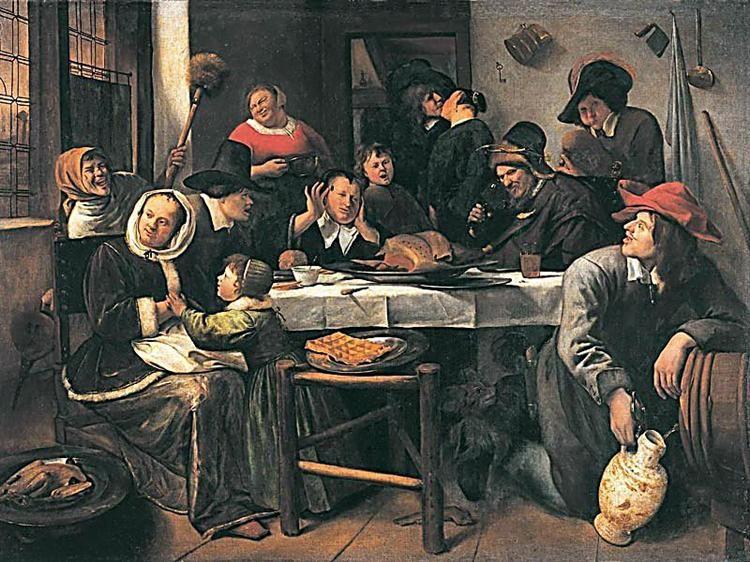 Genre barock  Más animada, 1660 - Enero Havicksz Steen | Jan Steen (1626-1679 ...
