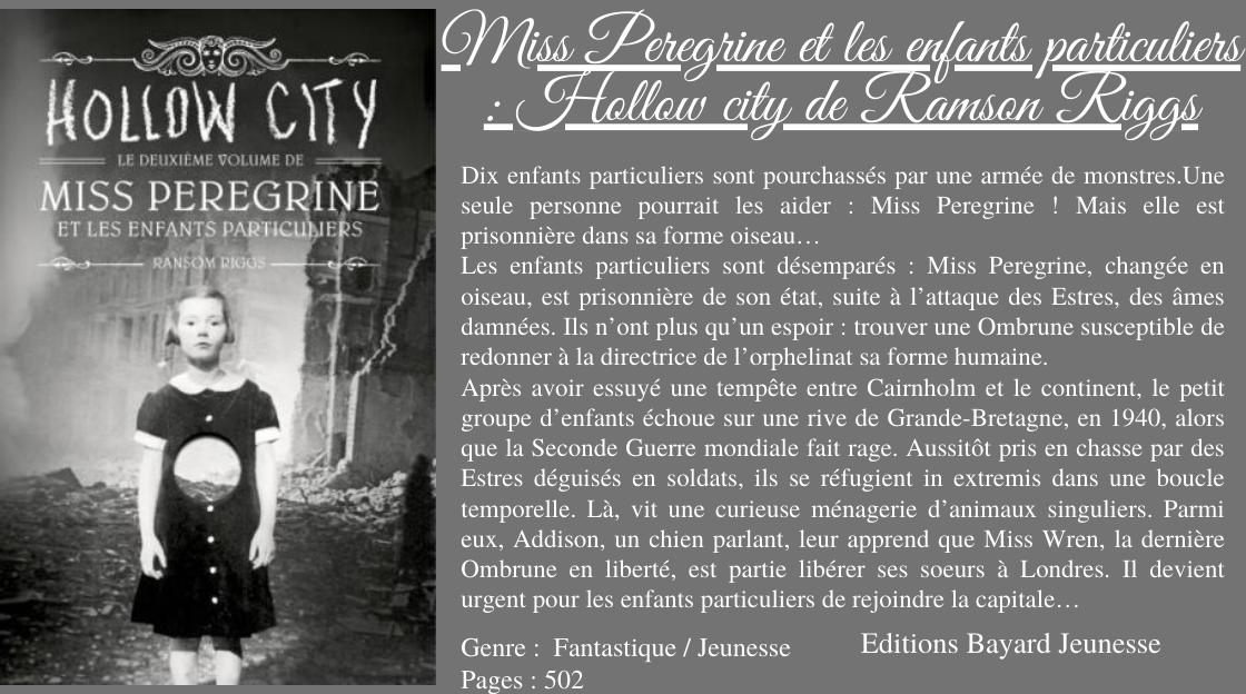 """Résultat de recherche d'images pour """"miss peregrine et les particuliers tome 2"""""""