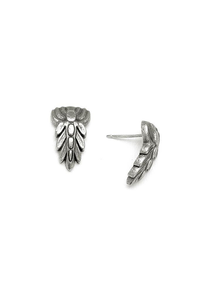 Art Nouveau Inspired California Poppy By Mason Larose: Stage Earrings In Sterling Silver // Inspired By Art