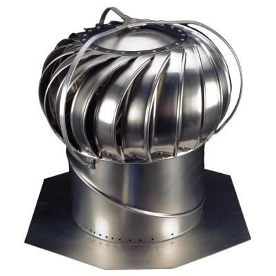 "12/"" Wind Turbine Roof Vent Exhaust Fan Attic Ventilator Aluminum No Moving Parts"