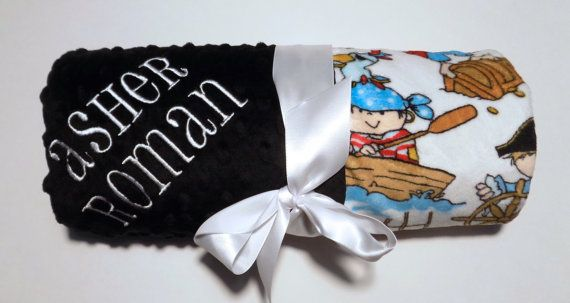 Ahoy pirate baby blanket in minky moonbeamminky baby gifts find this pin and more on baby gifts moonbeam minky negle Choice Image