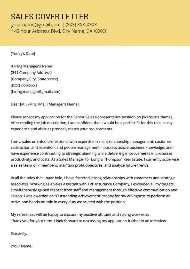 Browse Our Sample of Sales Assistant Resignation Letter