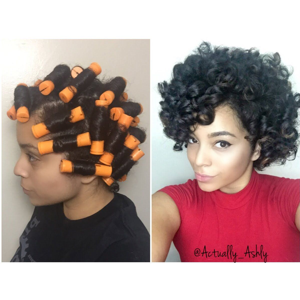 Perm Rod Set On Natural Hair Beauty Board Pinterest