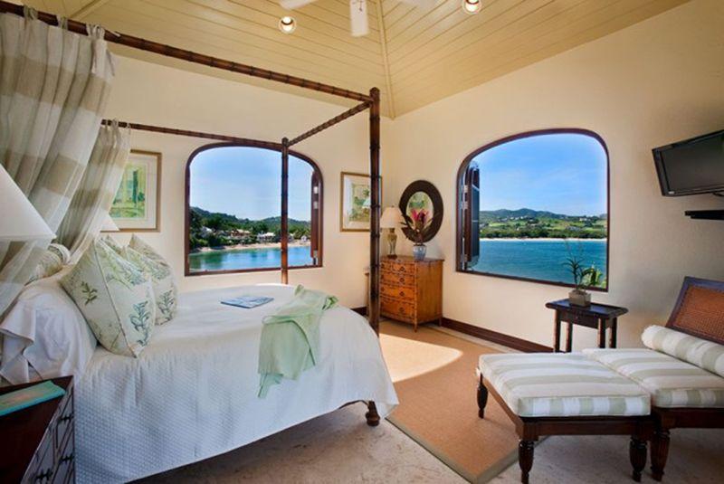 Architecture charming white cream bedroom amazing caribbean villa design comes with the great idea