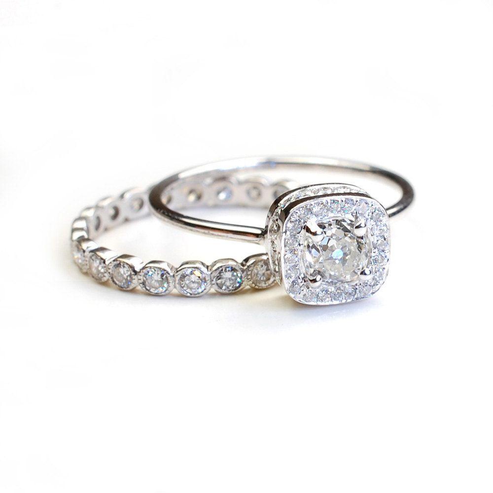 Vintage Diamond Engagement Ring, Mine Cut Diamond | Wedding ideas ...