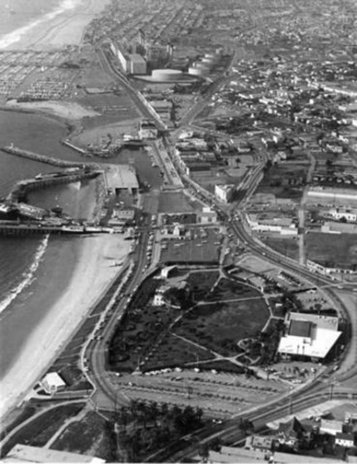 1969 Redondo Beach aerial the year I