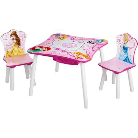 Disney Princess Storage Table and Chairs Set - Walmart.com  sc 1 st  Pinterest & Disney Princess Storage Table and Chairs Set - Walmart.com ...
