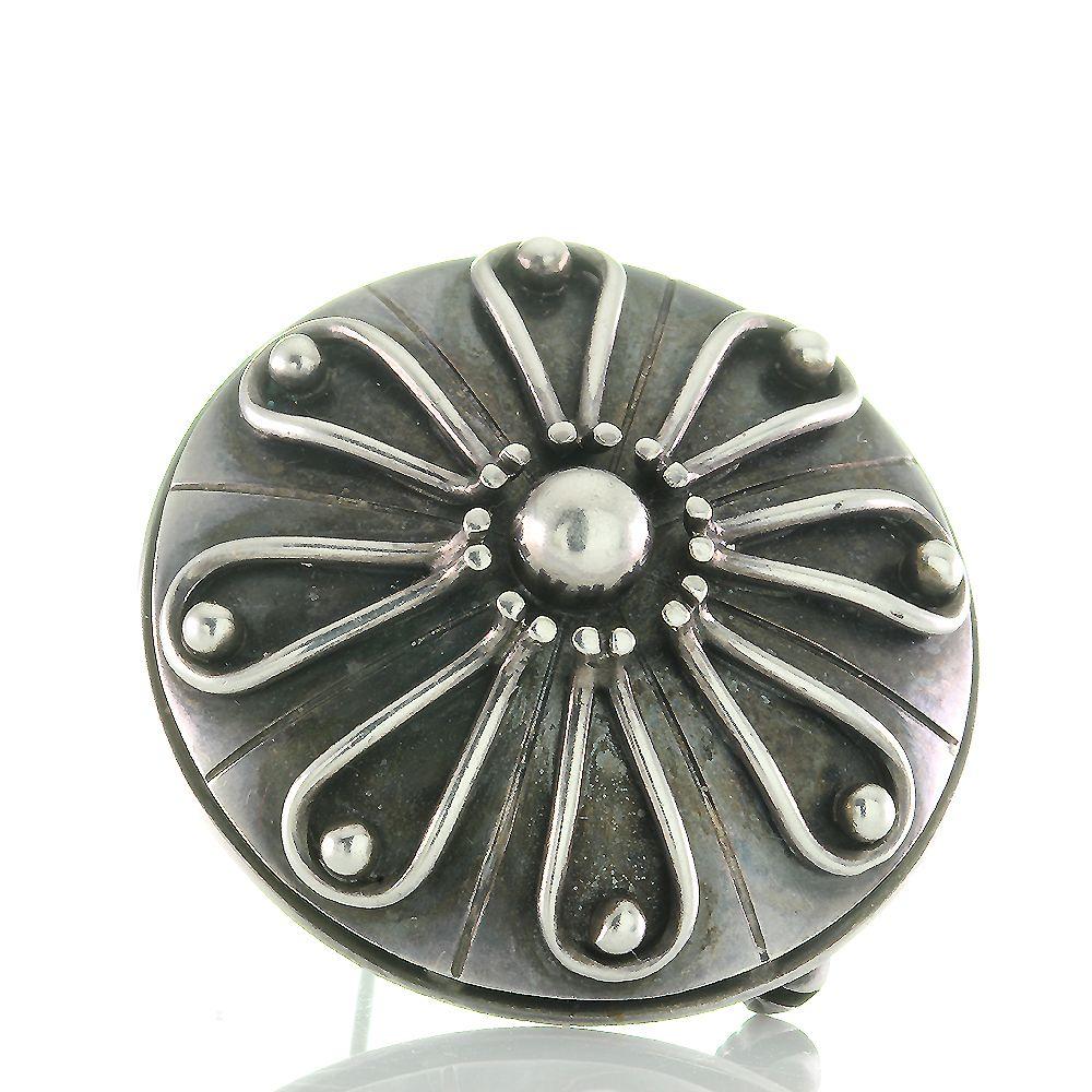 Antike Brosche Aus Geschwarztem Silber 835 Mit Meisterpunze Art Um 1930 Entstanden In Reiner Handarbeit Brosche Silber 835 Punze