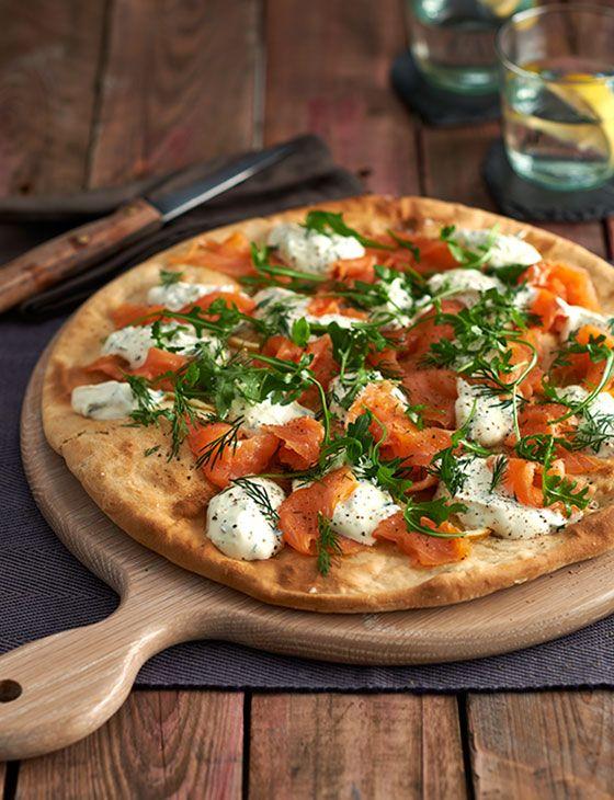 Smoked Salmon And Crème Fraîche Pizza