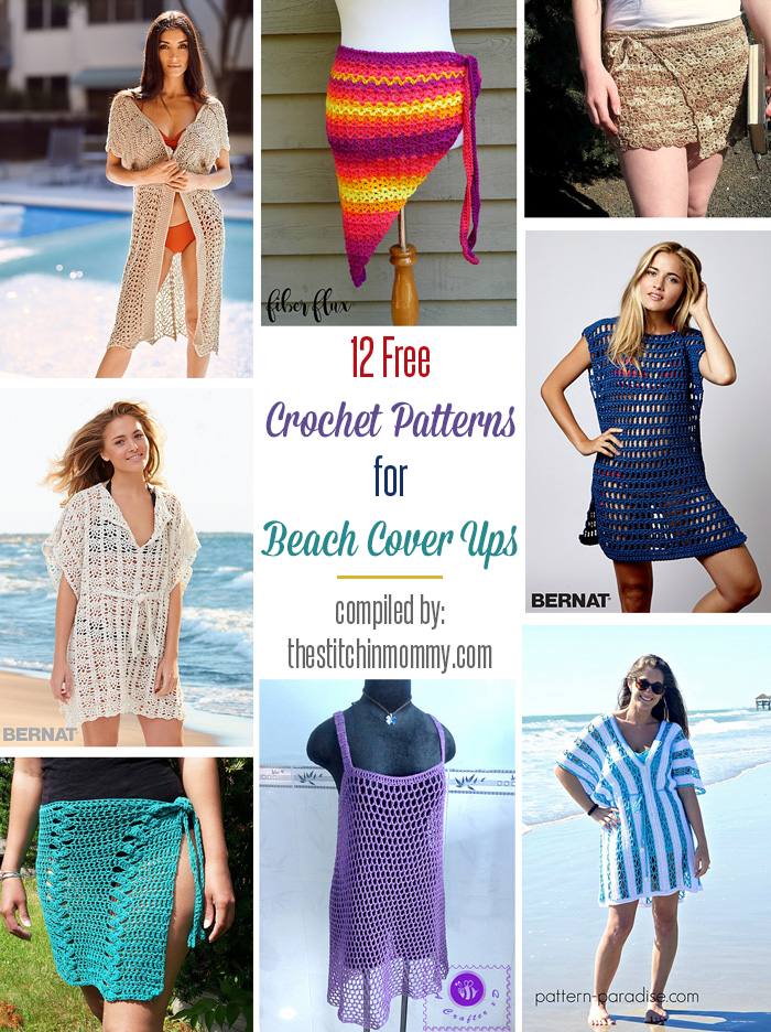 12 Free Crochet Patterns For Beach Cover Ups Crochet Beach Wear Crochet Swimwear Crochet Bathing Suit Cover