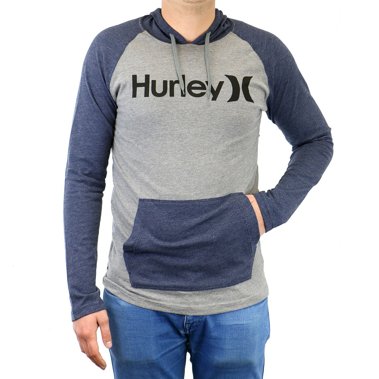 689e36284366 Hurley One and Only Raglan Jersey Hooded Pullover Hoodie - Mens ...