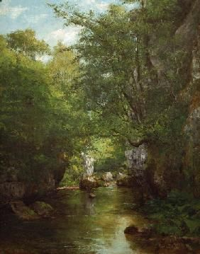 Courbet Gustave - Gustave Courbet, The Stream - La Br?me