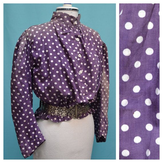 Vintage/Antique Blouse 1890s 1900s by VintageGreenClothing on Etsy, £49.99