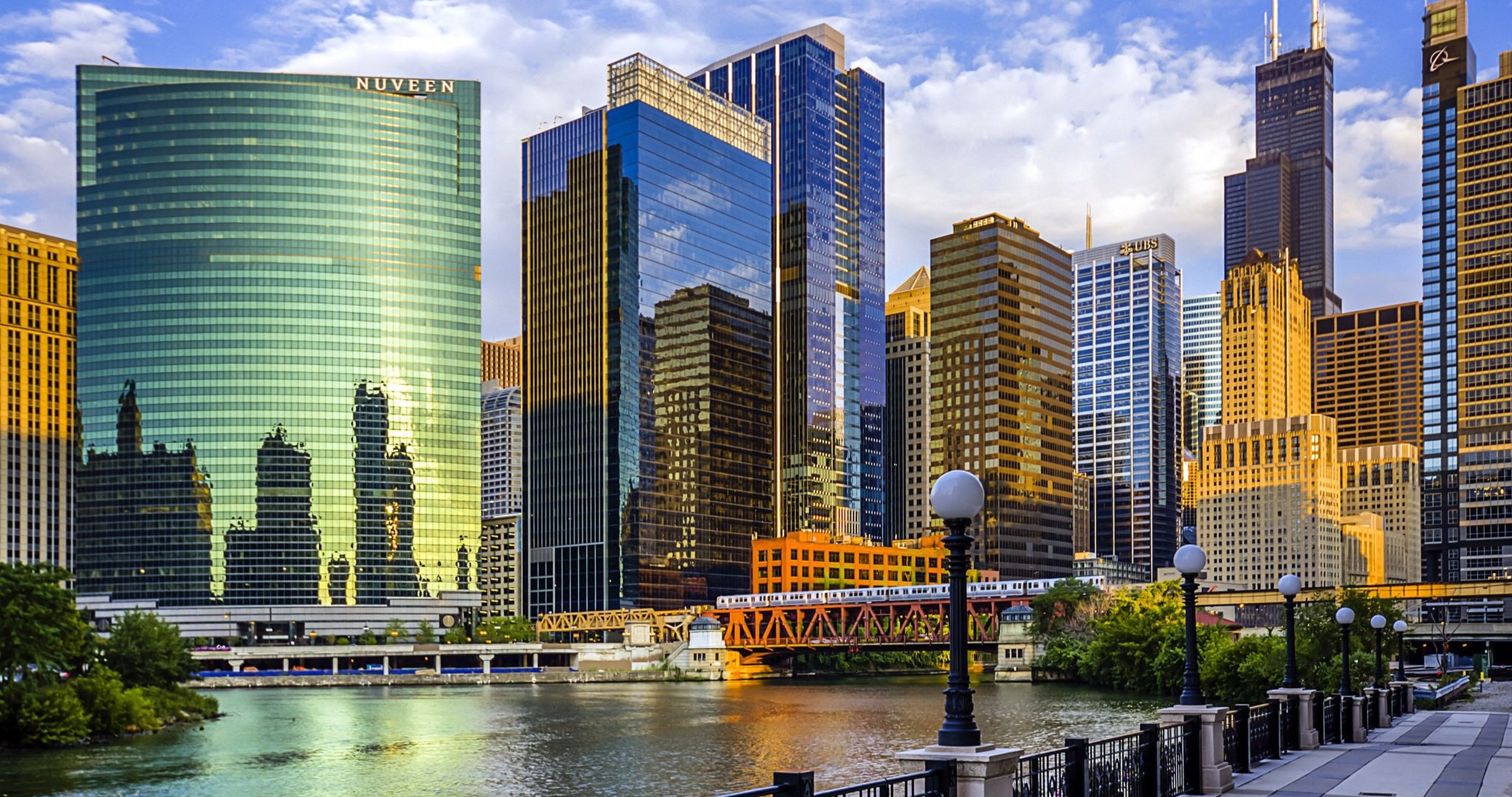 Chicago Illinois 4k Ultra Hd Wallpaper Chicago River Best Cities River Art
