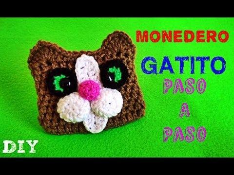 Gatito Monedero TEJIDO !! Kitten Coin Purse!! CROCHET Crochet