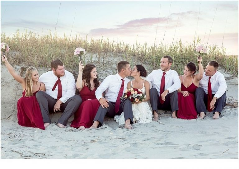 Bridal Party Holden Beach Reception On Wedding Pictures