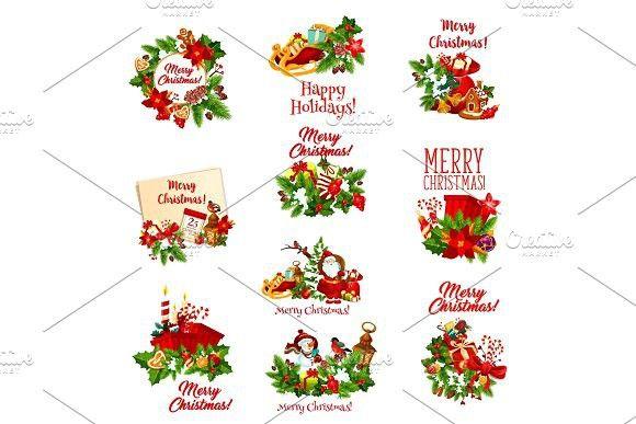 Christmas Holidays Icon.Christmas Holiday Icon Of Santa Calendar Design Holiday