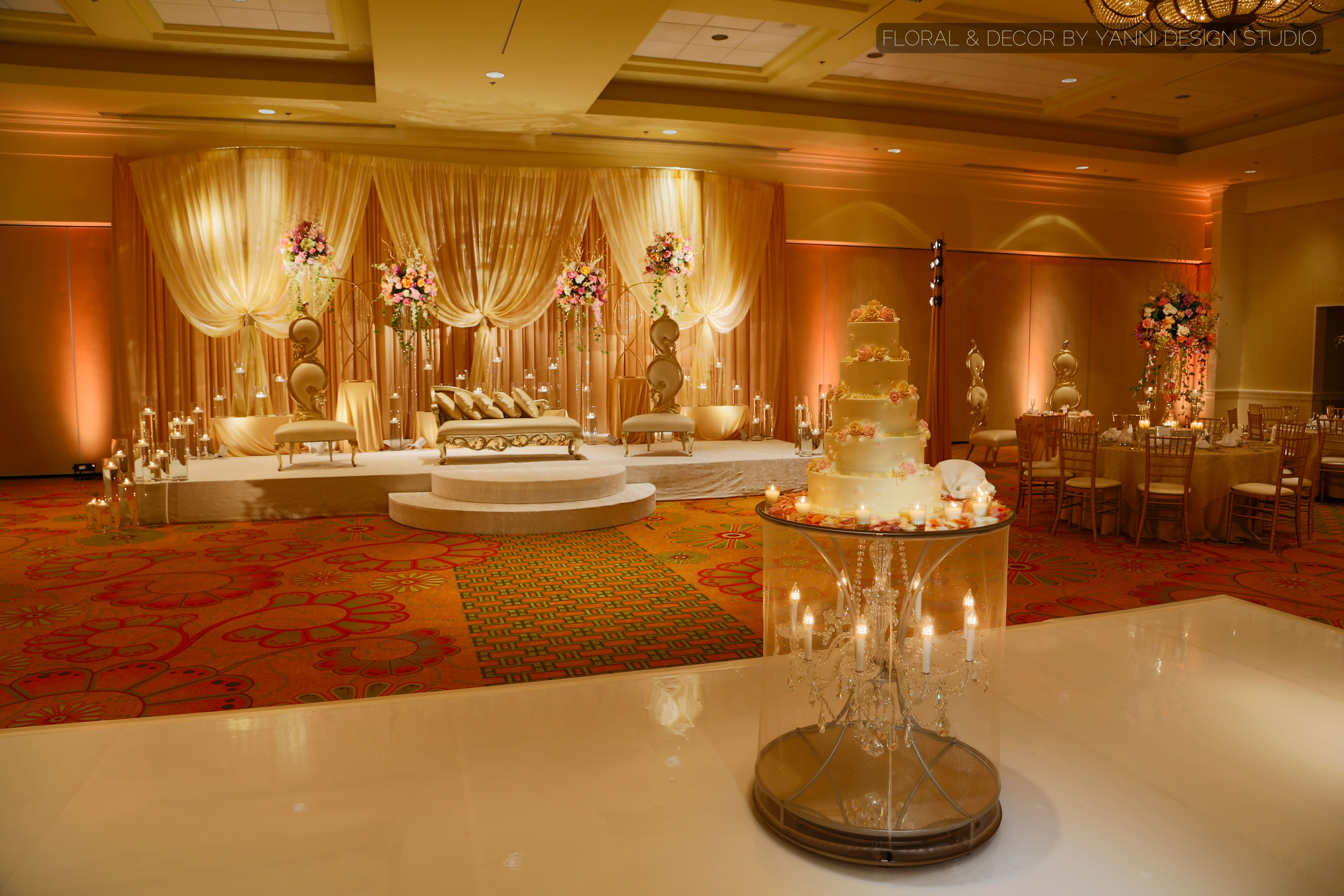 Exquisite Indian style wedding stage in the Oakbrook HIlls Resort