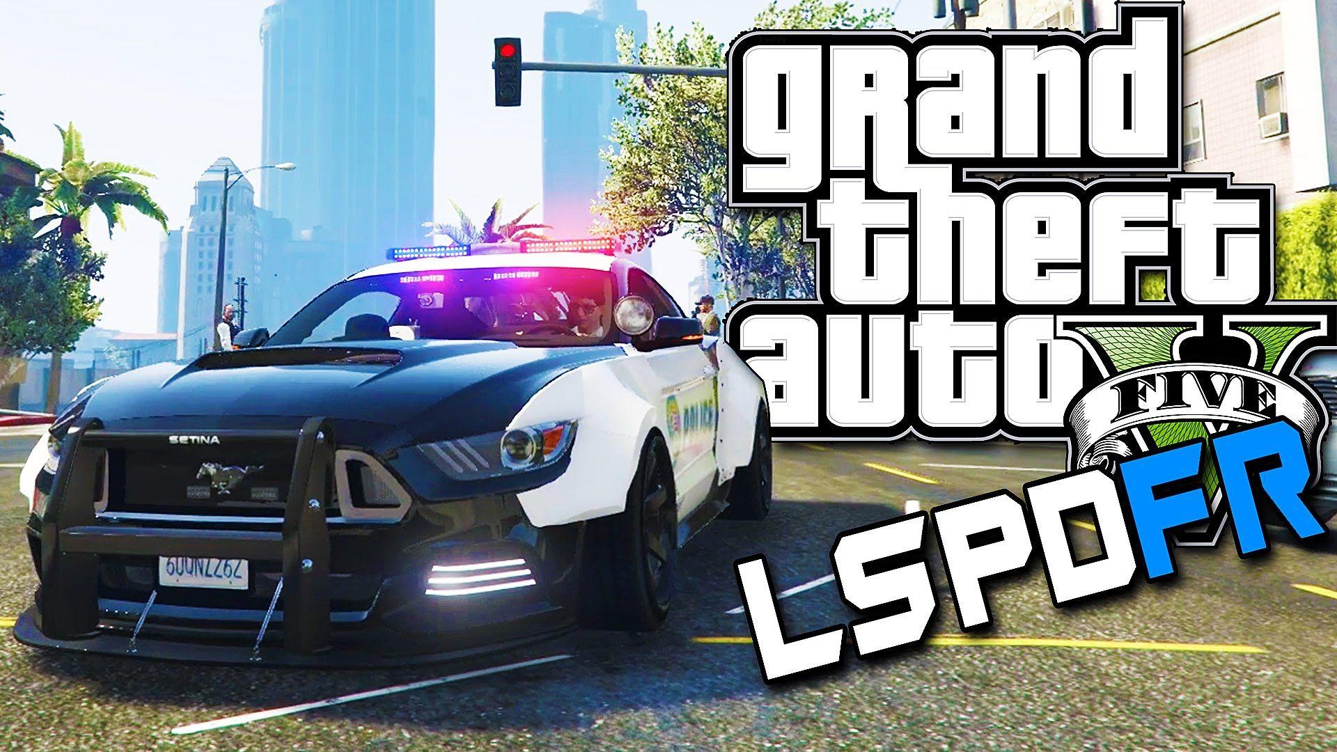 Gta 5 Lspdfr 9 Crazy Mustang Gt Police Car Mustang Gt