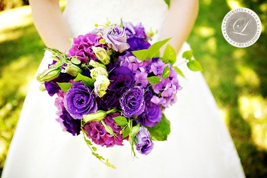 The bridal bouquet will be a clutch of dark purple hydrangeas, dark ...