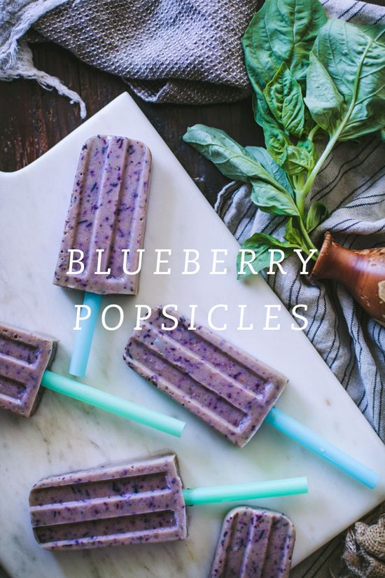 Delicious blueberry popsicles recipe