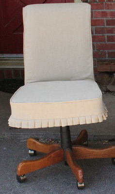 """Great idea to """"pretty up"""" an office chair."""