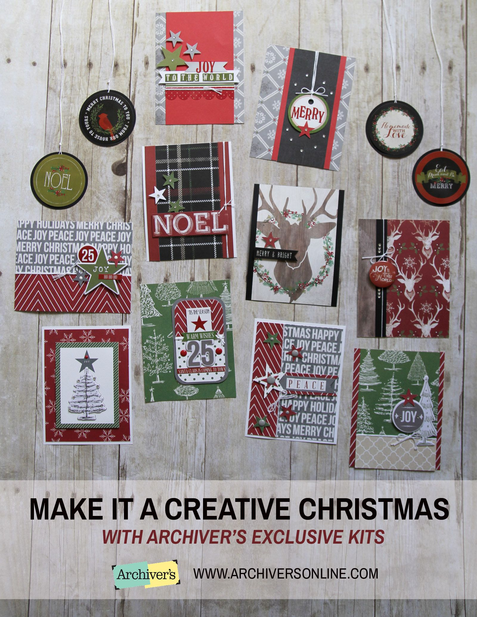 archiver s exclusive card and project kits can help you make it a creative christmas only available while supplies last