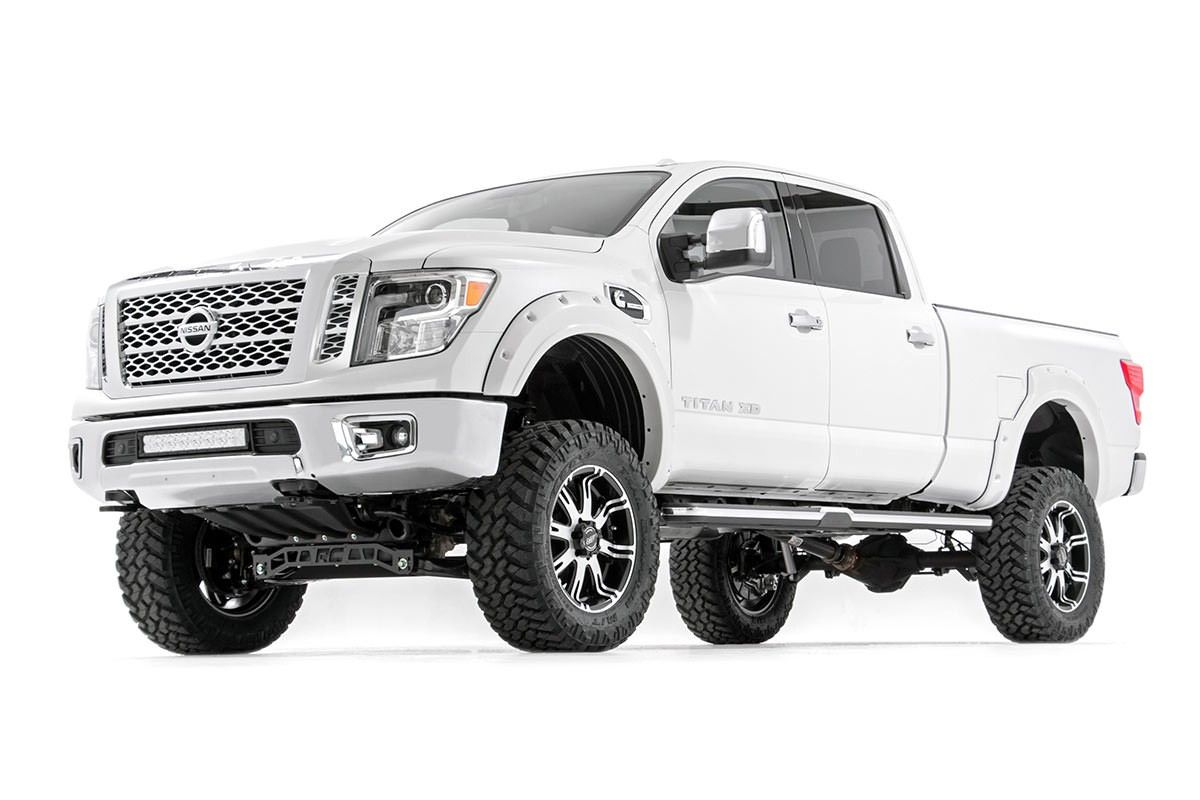 6in Suspension Lift Kit For 2016 4wd Nissan An Xd Pickups Rough Country Systems