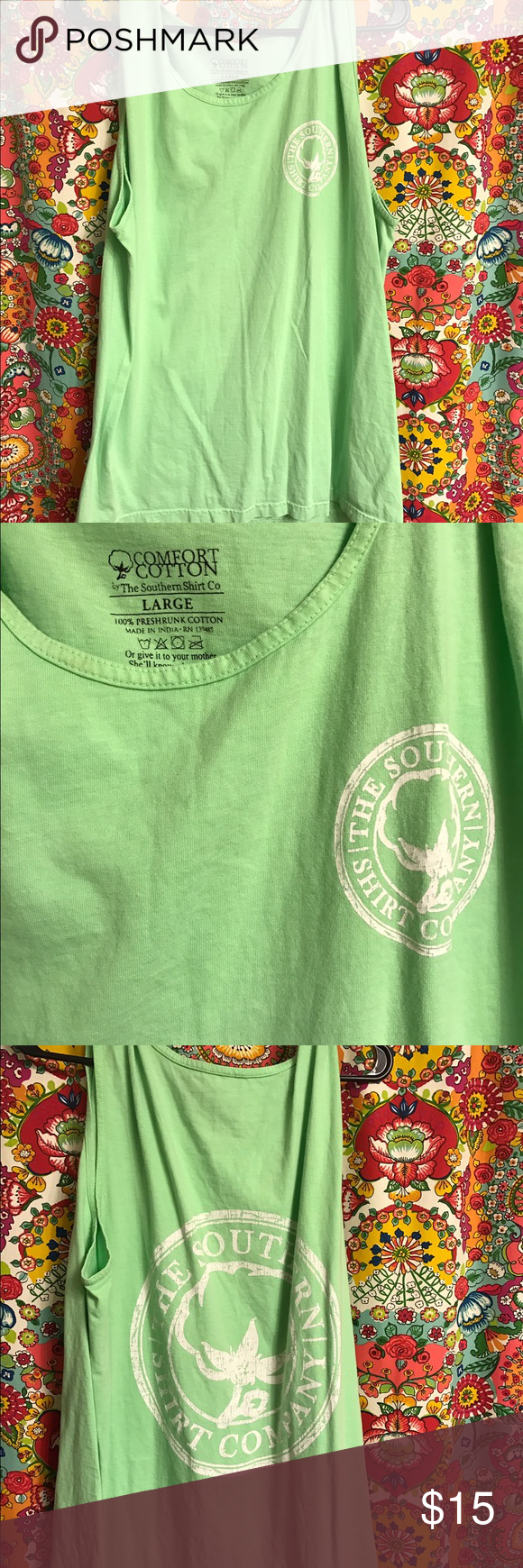 Southern shirt company tank Tank top from southern shirt! Worn a couple times in wonderful condition southern shirt company  Tops Tank Tops