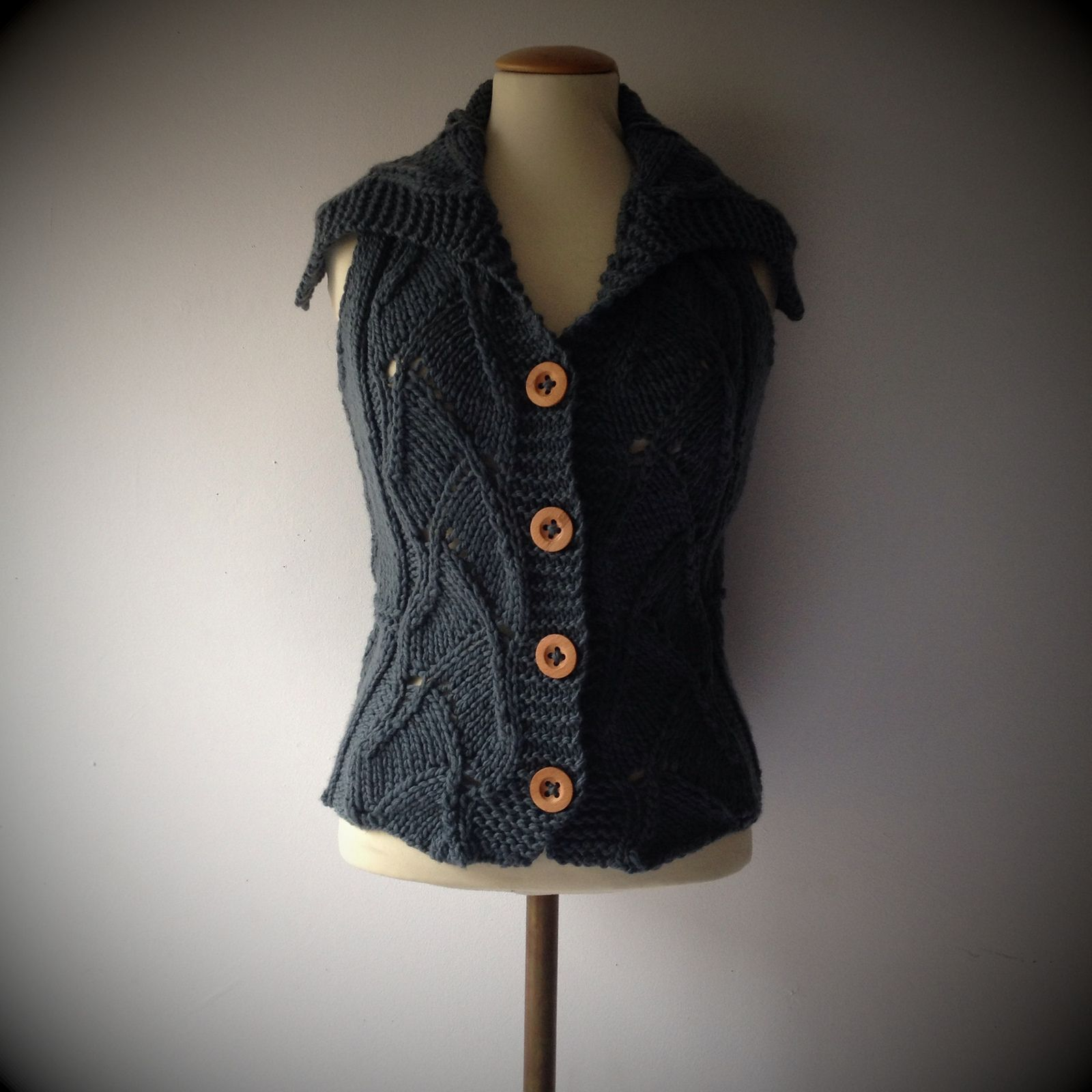 Ravelry: karincita's #109 Lace Inset Shaped Cardigan or Vest ...