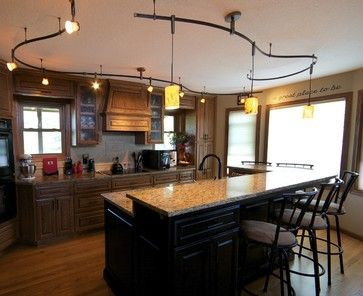 Curved Kitchen Rail For Track And Pendant Lighting By Michelle - Kitchen rail lighting