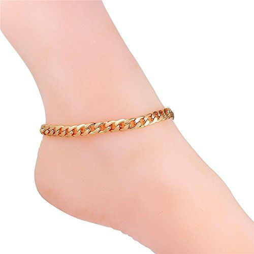 Summer Jewelry Gold Anklet Gold Plated Ankle Bracelet Beach Anklets, Gold Jewellery Crystal bead anklet Gold Pink Heart Charm Anklet