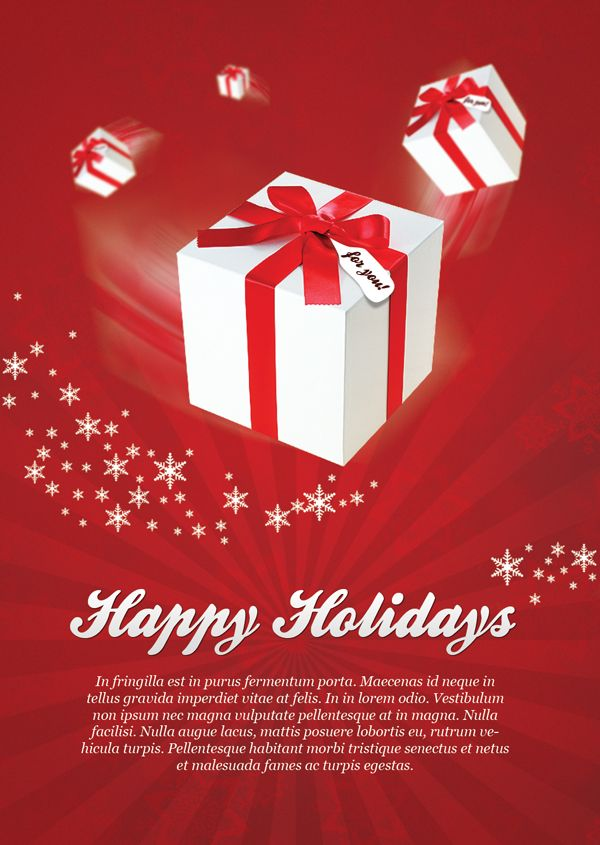 Free Christmas Flyer Designed In Red Color Scheme. We Followed The  Traditional Christmas Colors To