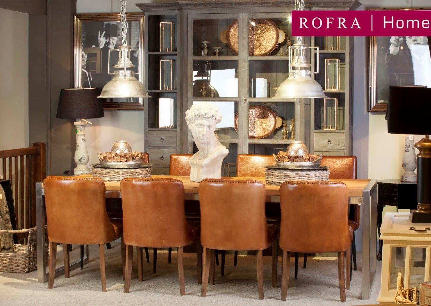 Klassieke eethoek met cognac kleurige stoelen rofra home for Eettafel stoelen cognac