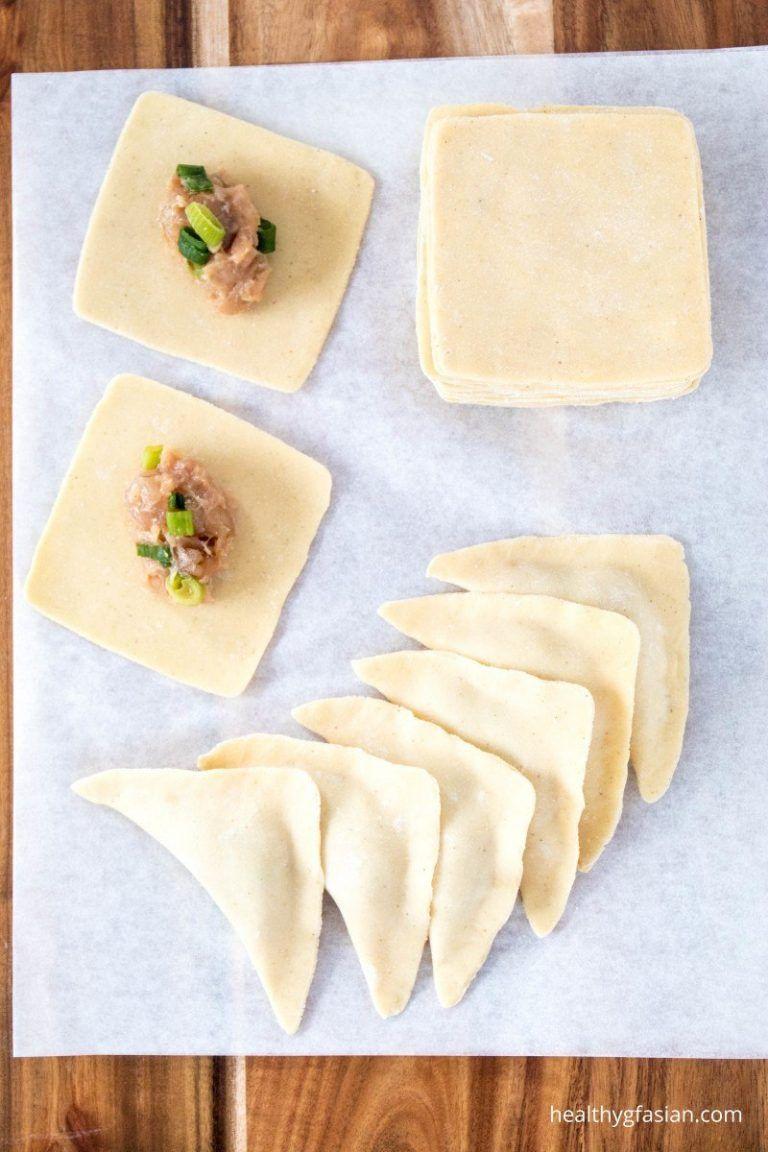 Homemade Gluten Free Wonton Wrappers | Healthy gf Asian