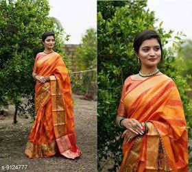 Silk sarees: Cotton Silk Saree : ₹1095 free COD whatsApp +918370860832/+919730930485