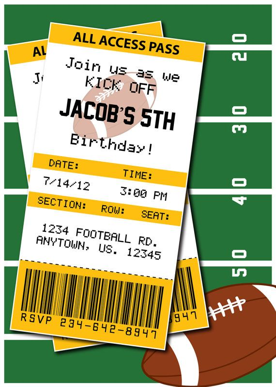 Football birthday party or superbowl invitation by football birthday party or superbowl invitation by heatherscreations11 700 pittsburgh steelers any team available filmwisefo Gallery
