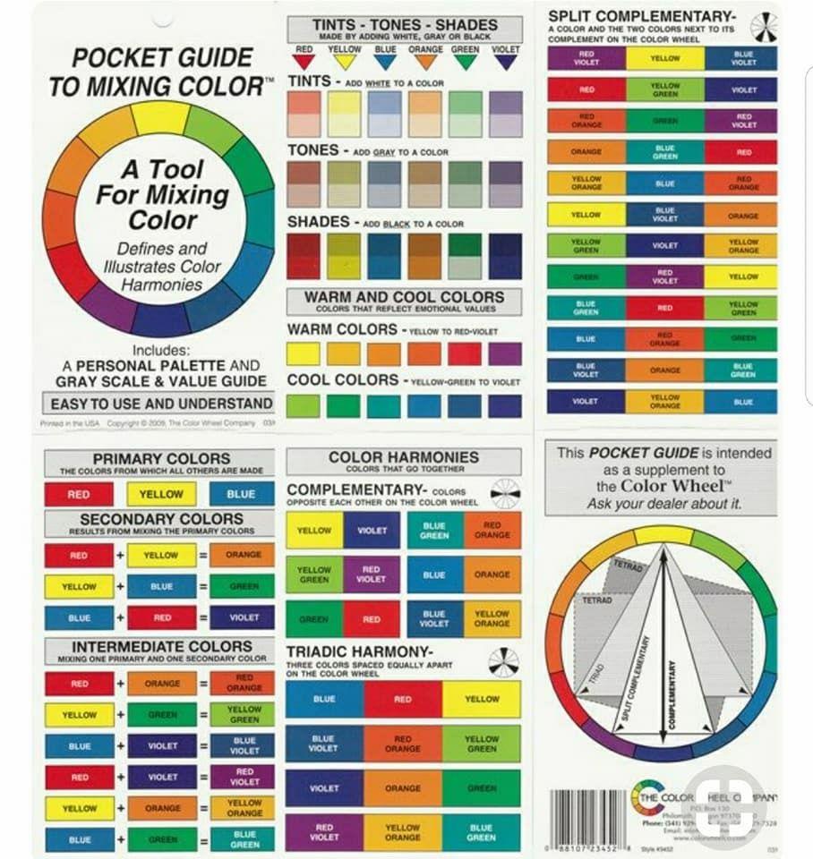 Color Guide Art Teaching Pinterest Color Wheels Painting Art